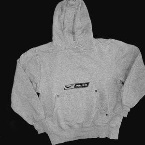 Nike Bauer gray hockey hoodie, XS